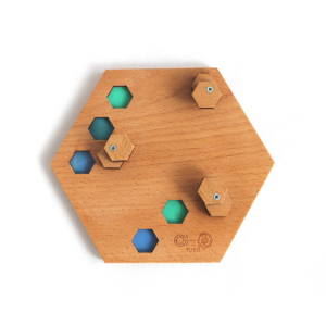 base 00 - colored beech hexagonal TUBO style